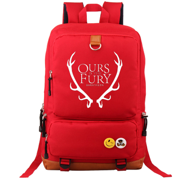 A Song of Ice and Fire Game of Thrones Ours is the Fury Baratheon Backpack School Bag Large Size Laptop Bag Xmas Gift Mochila fire maple sw28888 outdoor tactical motorcycling wild game abs helmet khaki