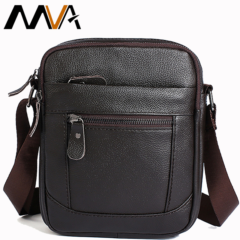 MVA Messenger Bag Men Genuine Leather Mens Bags Male Cowhide Flap Casual Crossbody Shoulder Bags Man Small Leather Bag Men 223 цены