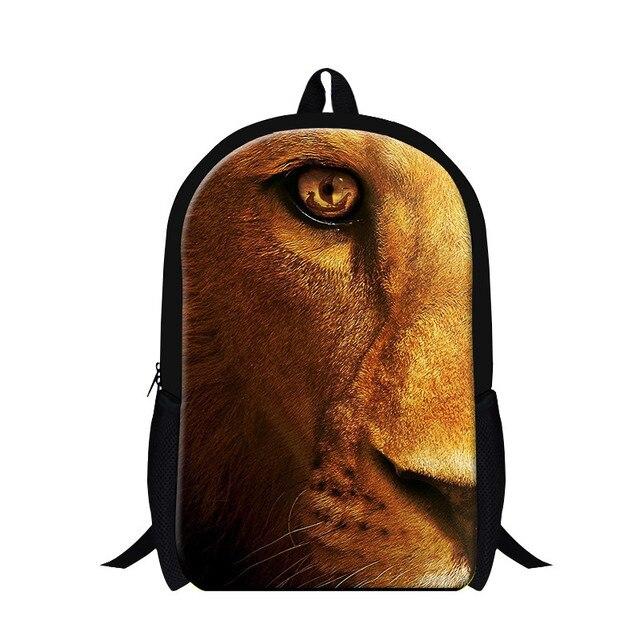 Dispalang Leopard Cool School Backpack Mens Animal Print Tiger Lion Travel  Shoulder Bag Children Bookbag For c19c58c9b37bf