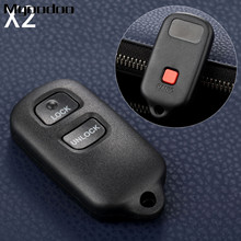 2Pcs Remote Car Key Fob Shell 2 Buttons HYQ12BBX For Toyota FJ Cruiser Prius RAV4 Highlander Tacoma Tundra Auto Replacement