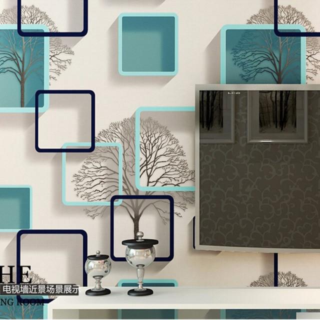 Modern Abstrak Hitam dan Putih Cabang Wallpaper 3 D untuk Kamar