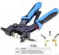 Professional compression crimping tools TL H510B,For CrimpingF,BNC,RCA,RG 59, RG6 F type cable