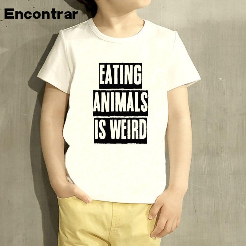Kids eating animals is weird Funny Design Baby Boys/Girl TShirt Kids Funny Short Sleeve Tops Children Cute T-Shirt,HKP965