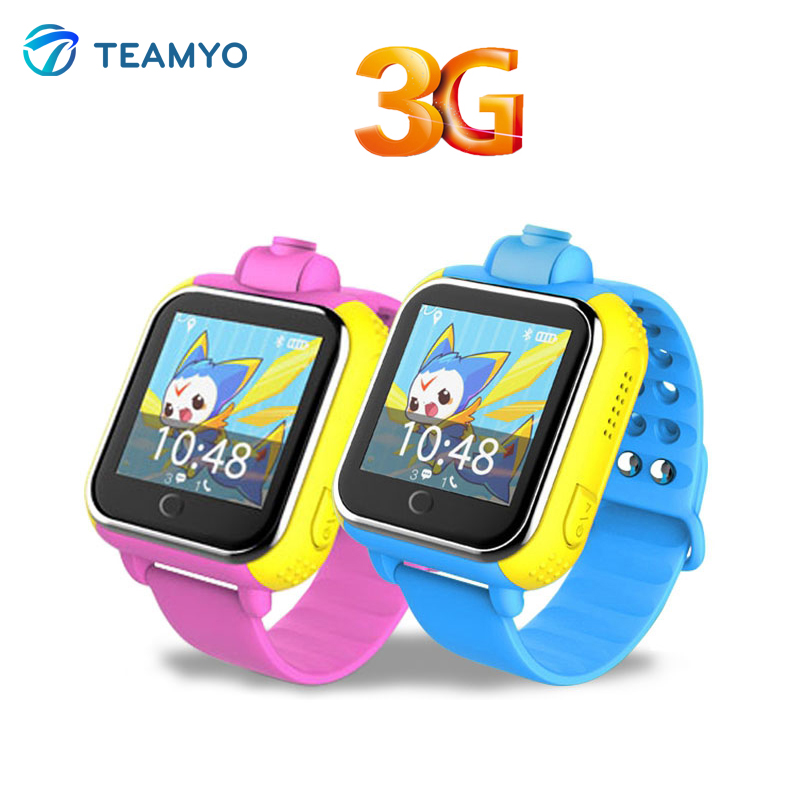 3G Kids Smart Baby Watch JM13 GPS Wifi Position Support GSM WCDMA with Rotatable Camera Remote Monitor Smartwatch For Children
