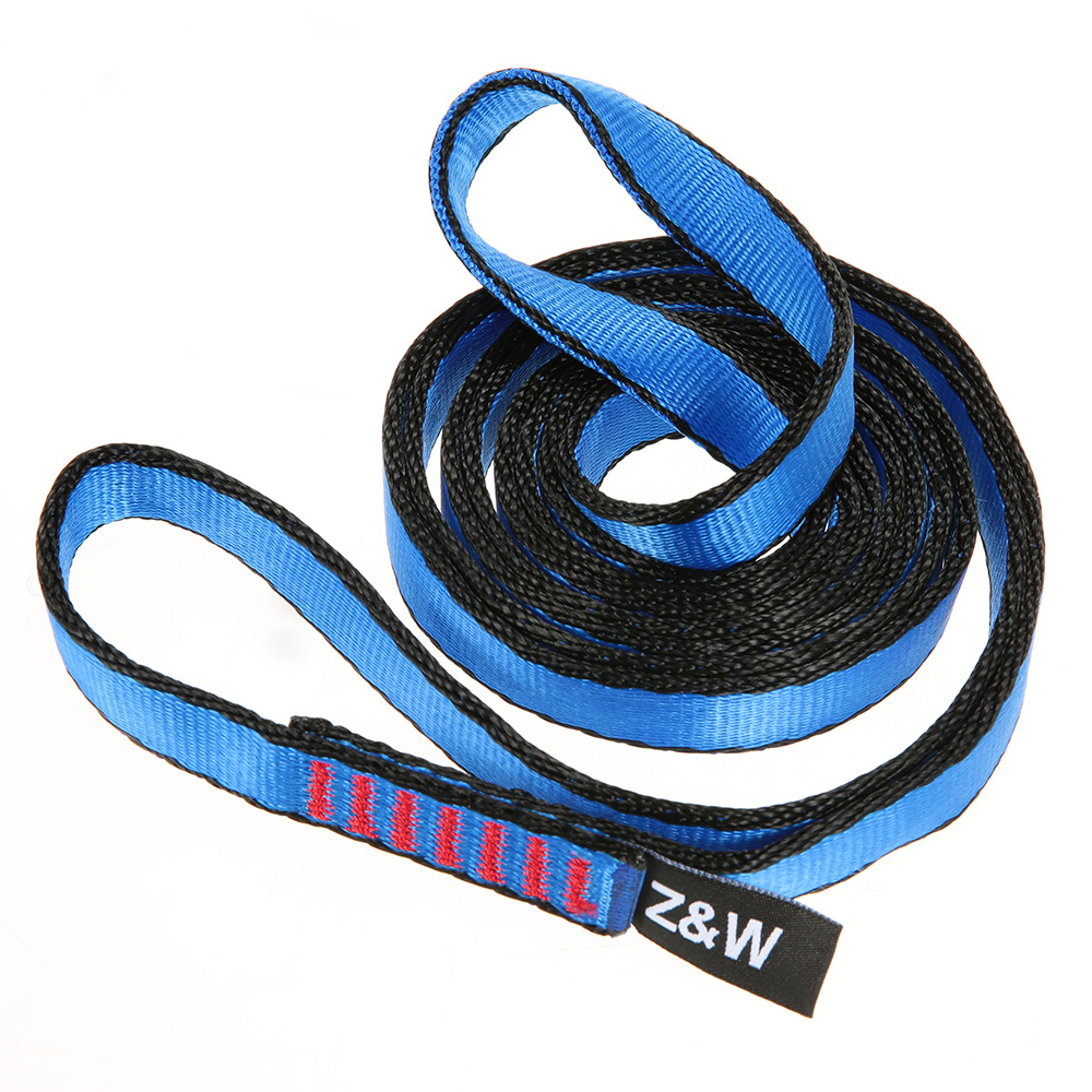 Climbing Tool 23kn 16mm 120cm/3.9ft Rope Runner Webbing Flat Strap Belt For Mountaineering Rock Climbing Caving Rappelling Tool