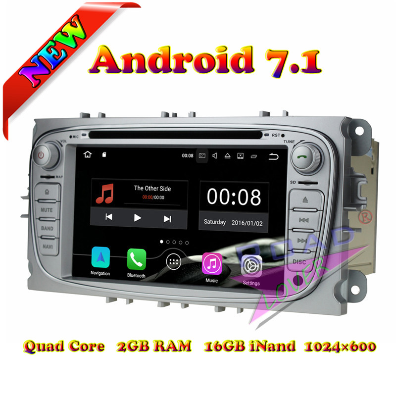 Wanusual 2G+16GB Android 7.1 Car Media Center DVD Player For Ford Focus 2009-2010 Stereo GPS Navigation Auto Audio Touch Screen