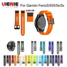 26 22 20MM Watchband Strap for Garmin Fenix 5X 5 5S Plus 3 3HR D2 S60 Watch Quick Release Silicone Easyfit Wrist Band