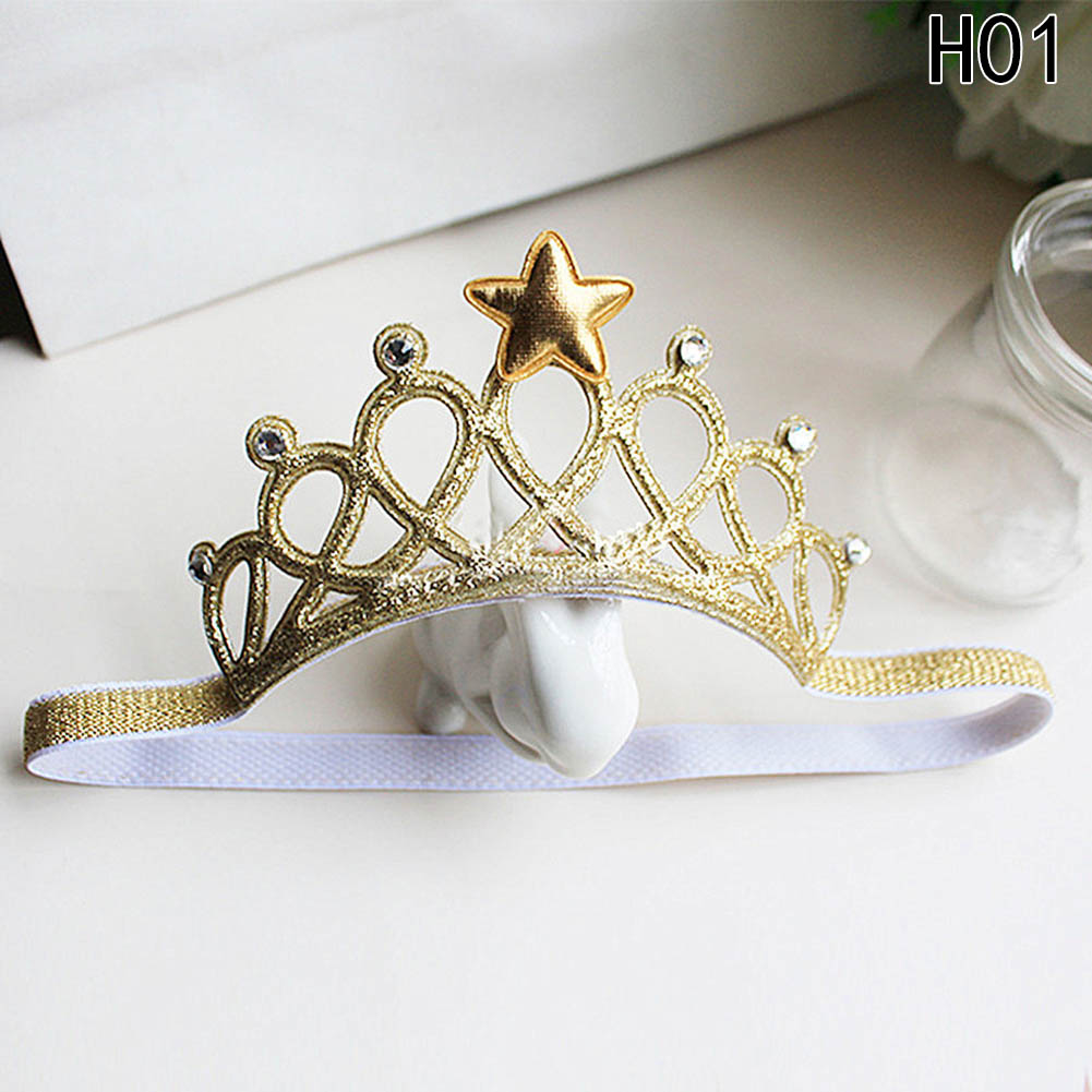 Hot Sale Glittering Crown Headband Girls Hair Band New Head Wrape Hair Accessories Princess Tiara Headband 2018