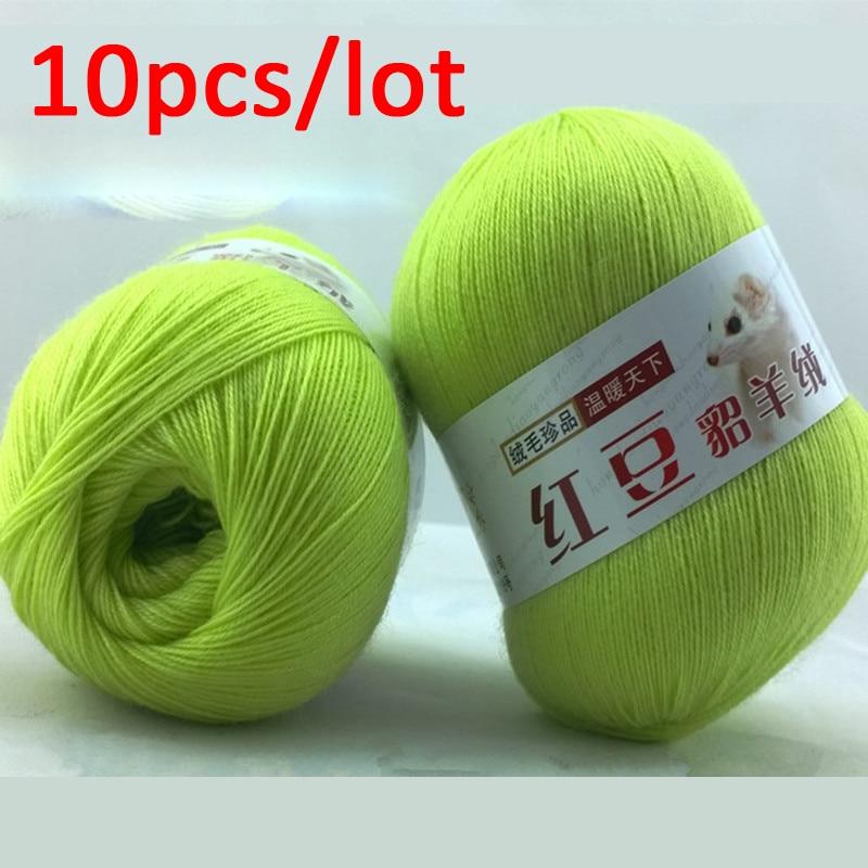 Cheapest 10pcs/lot Thin Yarns Yarn For Hand Knitting Crochet Yarns Knitting Wool 35% Cashmere 35% Alpaca 30% Lamb Cashmere