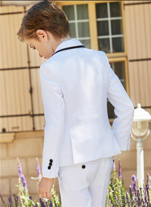2019-new-fashion-white-boy-formal-wear-notch-lapel-boy-kid-clothes-for-wedding-birthday-party-(jacket+pants+bow+vest) (2)