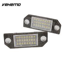 Vehemo 2 шт. 12 В белый 24 светодио дный номерной знак свет лампы для Ford Focus C-MAX MK2