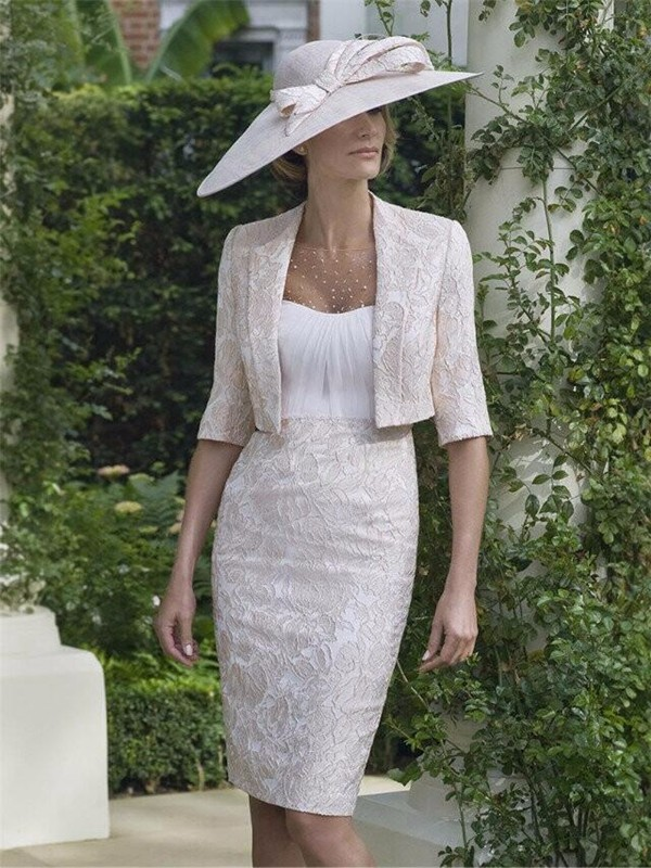 Vintage-Short-Lace-Mother-Of-The-Bride-Dresses-With-Jacket-elegant-pant-suits-Beading-Wedding-Mother (1)