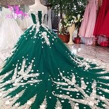 AIJINGYU サテンフリルトリムセクシーなショートドレス格安デザイナーカスタムボール母の花嫁衣装安価なウェディングドレス