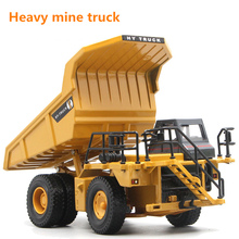 1:50 Children Simulated Alloy Die Casting Dump Truck Inertial Return Engineering Mine Transportation Model Collection Toy