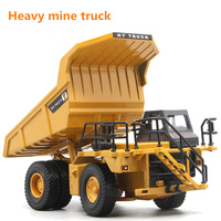 1:50 Children Simulated Alloy Die Casting Dump Truck Inertial Return Engineering Mine Transportation Truck Model Collection Toy