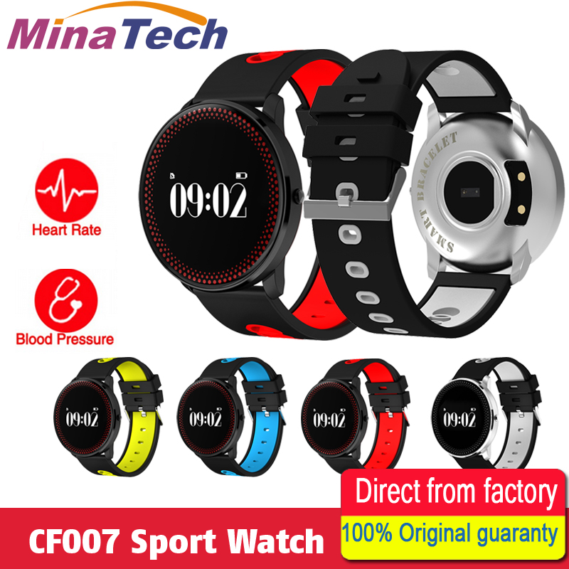 CF007 Smart Bracelet Heart Rate Monitor Blood Pressure Monitor SMS Notification Smart Band Sport Tracker sport band PK DM58 K88H