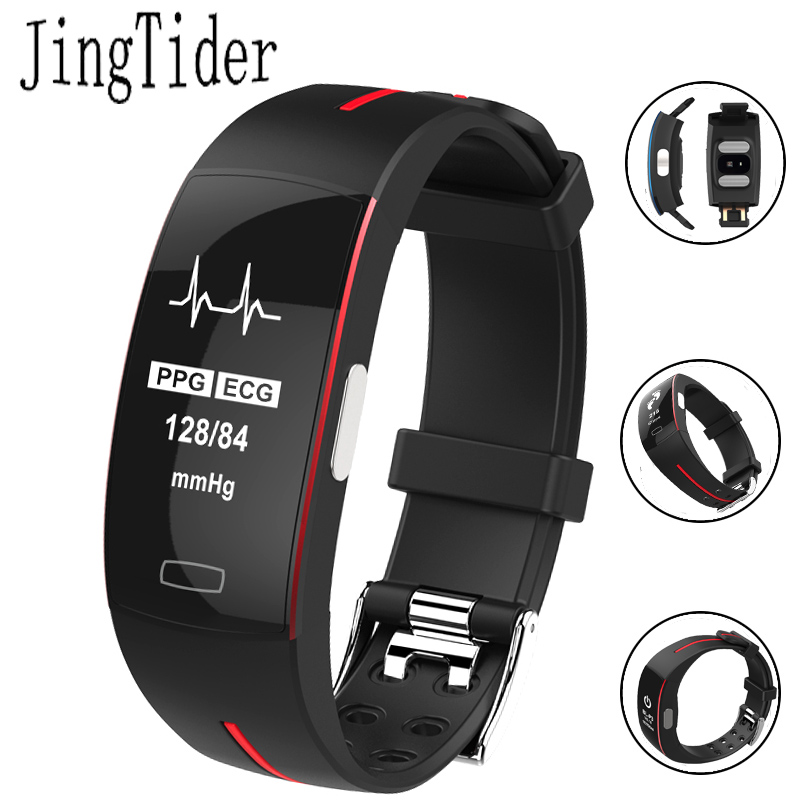 все цены на Professional Sport Smart Bracelet ECG+PPG Blood Pressure Heart Rate Monitor P3 Smart Band 0.96