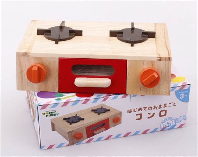 New wooden toy Kitchen toy set Simulation Gas stoves Baby toy Free shipping new wooden toy animal bus shape matching blocks around the bead car baby pull toys car baby toy free shipping