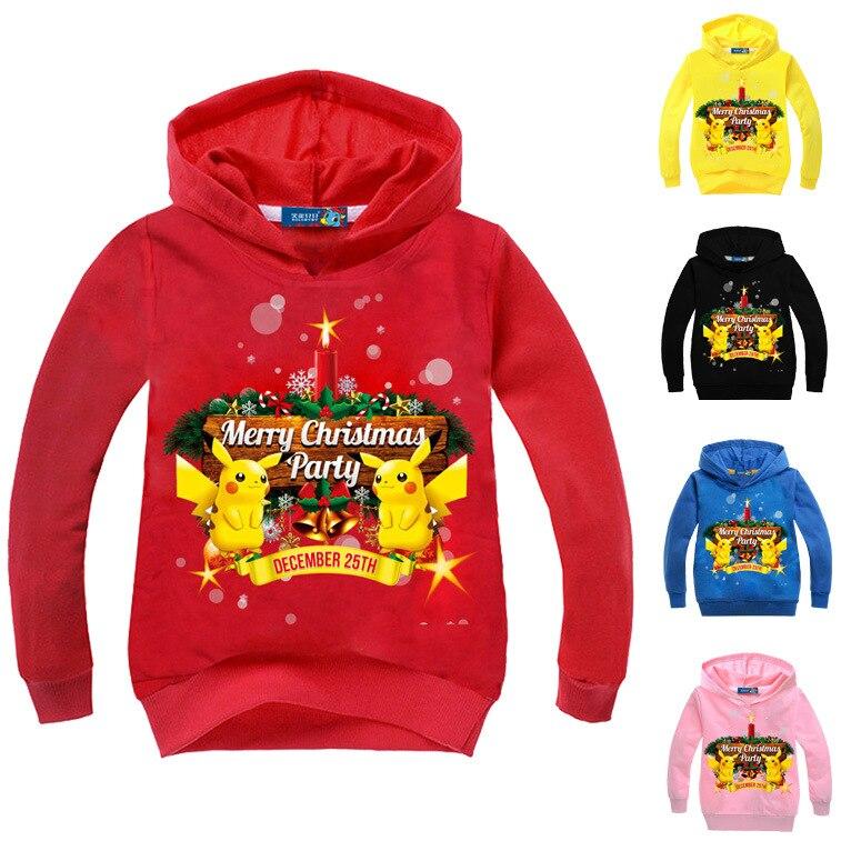 Anime pokemon pikachu  Printed Hoodie Tops Sweatshirts Coat Unisex  Long Sleevefor children and teenagers