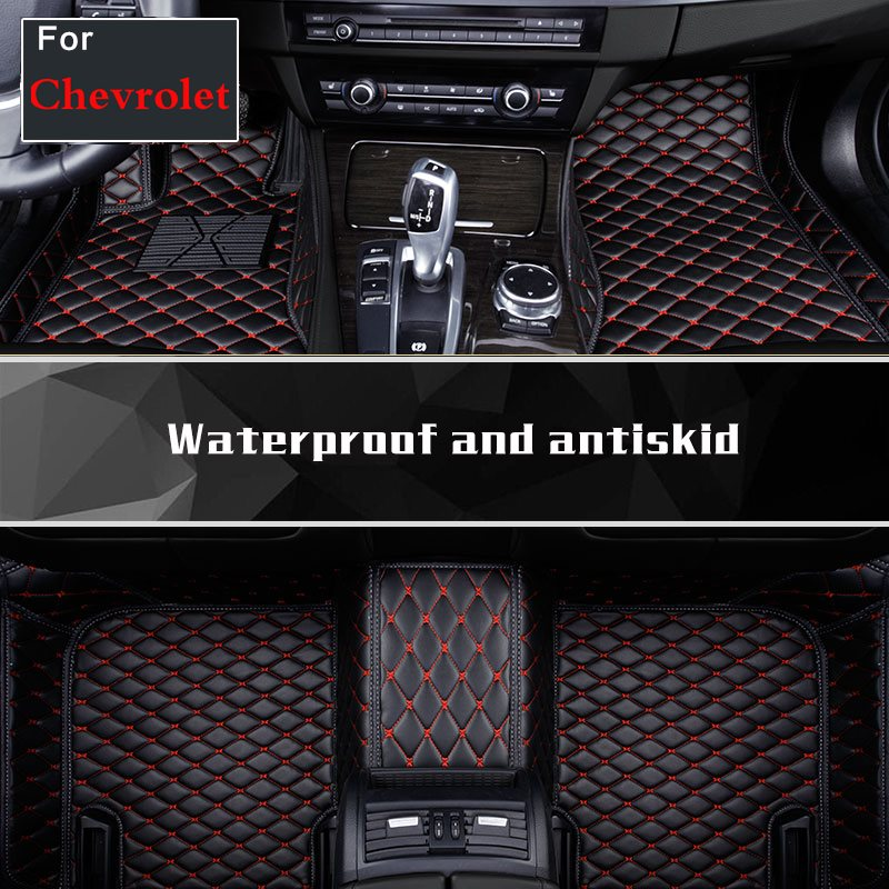 2018 Custom Make Coffee Black Wine Red Car Floor Mats For Chevrolet Malibu Xl Cavalier Equinox Spark Camaro Silverado Colorado wljh 11x canbus 2835 smd led dome map interior light kit for chevrolet cruze equinox sonic malibu spark suburban traverse 2015