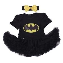 Batman BEBE Costumes De Noël Pour Enfants Noir Dentelle Barboteuse Dress + Bandeau 2 pcs Bébé Fille Vêtements Set Infant Toddler vêtements