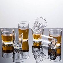 1 шт., кружка, Хрустальная чашка, закаленная стеклянная чашка, креативная, с высоким содержанием спирта, белый бокал для вина es, для питья, толстое дно, для ликера, виски