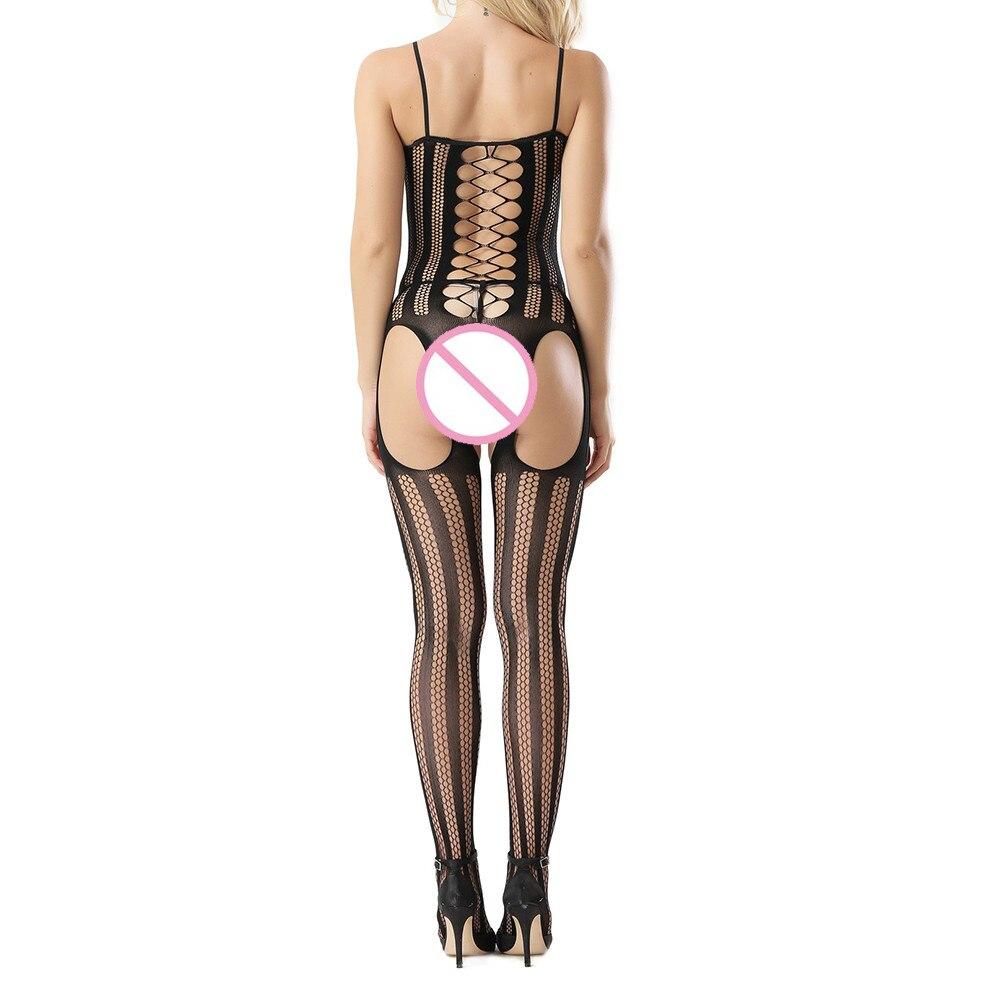 4b3c8998c JAYCOSIN Women Hollow Sexy Lingerie Open Crotch Bodystocking Lady Elastic  Fishnet Perspective Bodysuit Underwear Pajama D30 Apr9-in Teddies    Bodysuits from ...
