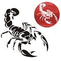 1 Piece 30cm Cute 3D Scorpion Car Stickers car styling vinyl decal sticker for Cars Acessories decoration QC29