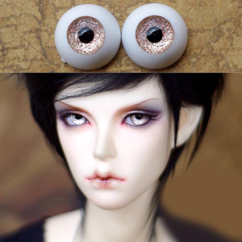 champagne color  Bjd Eyes for BJD Dolls toys eyeball for 1/3  1/4 1/6 SD Dolls 16mm 18mm 20mm 22mm Acrylic EYEs for toy kid doll 1 3 1 4 1 6 1 8 1 12 bjd wigs fashion light gray fur wig bjd sd short wig for diy dollfie