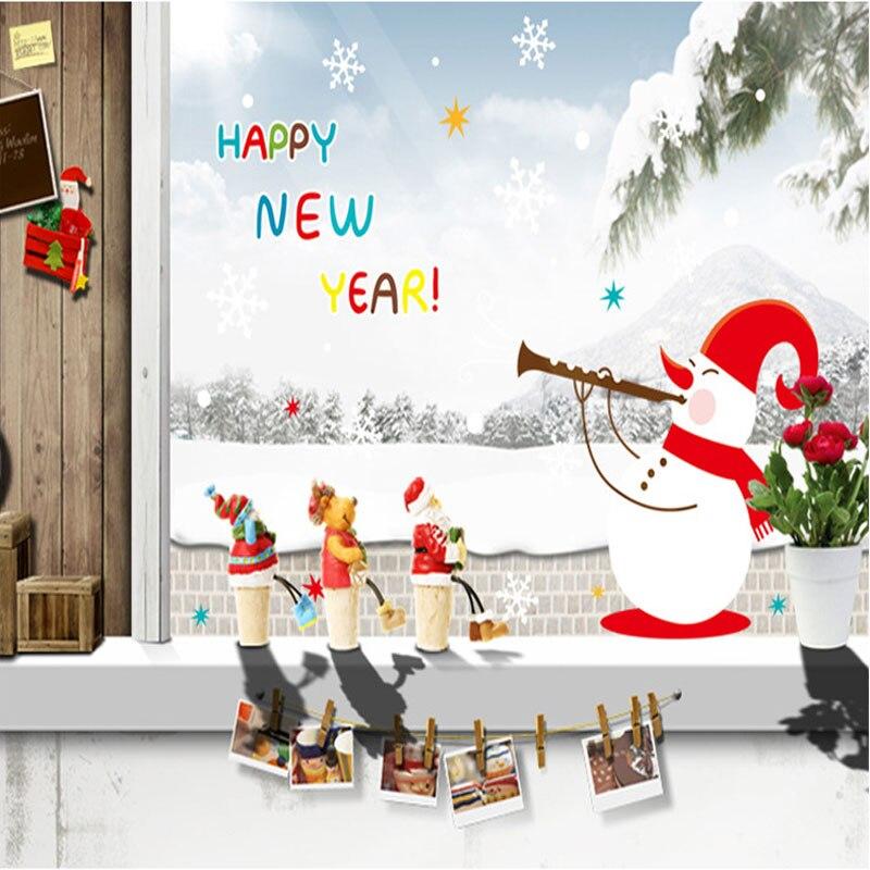 Aliexpress.com : Buy New Year Christmas Window Sticker ...