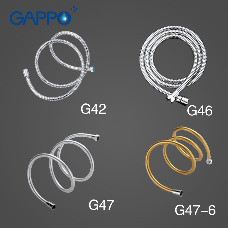GAPPO 1.5M Plumbing Hoses Bathroom Shower Hose Bidet Faucet Shower Hose Bathroom Pipe PVC Flexible Explosion Proof Pipes G47