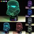 2016 Caliente El caballero blanco 7 colores 3D LED Luz de La Noche de Todos Los Colores de Flash A Su Vez y regalo a un amigo