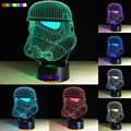 2016 Hot The white knight 7 colors 3D LED Night Light All Colors Flash In Turn and gift to friend
