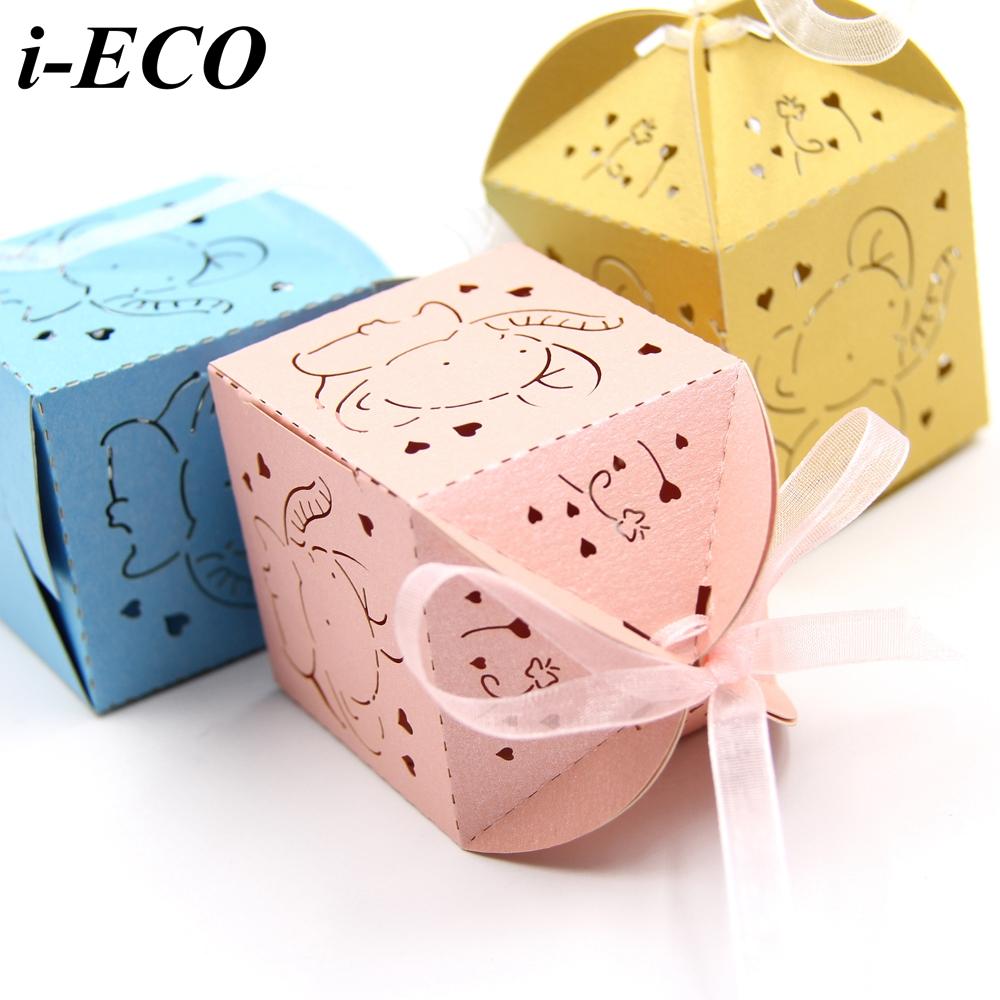 20PCS DIY Mini Elephant Candy Box Wedding Favors Paper Gift Boxes ...