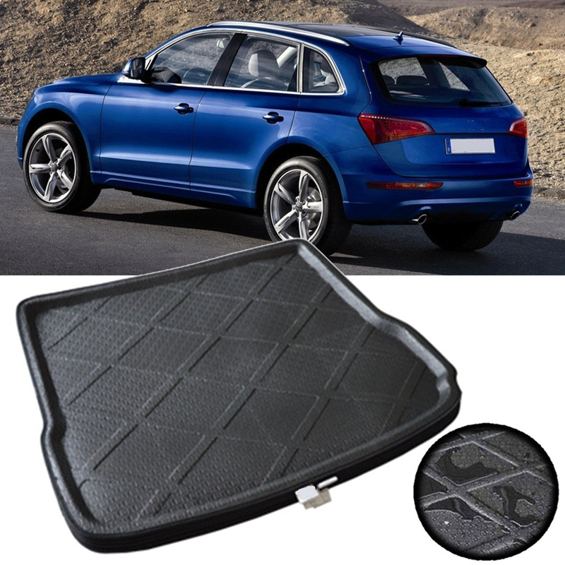 Autoleader Black Car Rear Trunk Boot Cargo Mat Liner Tray Waterproof for Audi Q5 2010-2016 Auto EVA 3D Stereo Cargo Liner areyourshop auto cargo mat boot liner tray rear trunk sticker dog pet covers for kia soul 2009 2010 2013 car covers