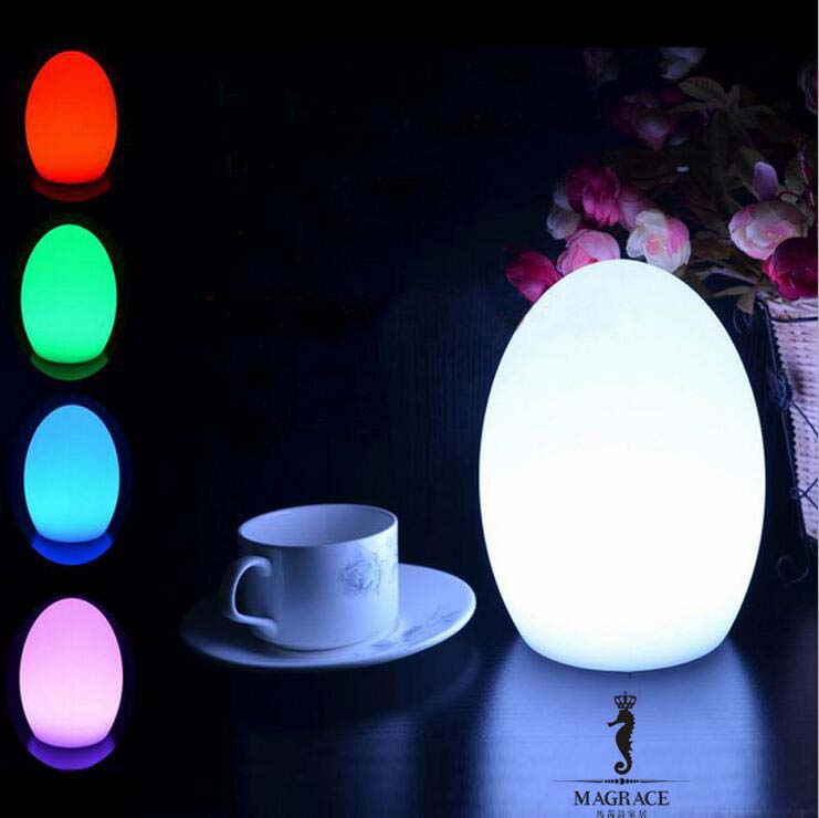 Novelty 14*18cm Egg Shape LED USB Chargeable Night Light 16 Color Changeable For Party Bedroom Christmas Decorative Table Lamps 3d tiger shape led color changing decorative night light