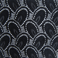 French 3D Soft Black Stretch Lace Fabric African High Quality Peacock Feather Knitted Apparel Cloth Sewing