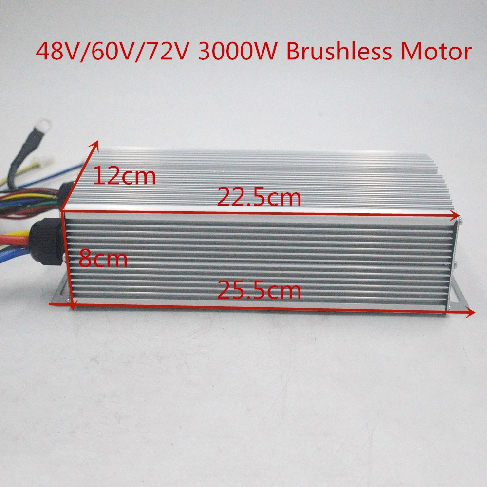 48V 60V 72V 3000W Brushless Controller 60A 24Mosfet for BLDC motor electric bike ebike tricycle motorcycle