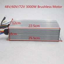 48V 60V 72V 3000W бесщеточный контроллер 60A 24Mosfet для электрического велосипеда BLDC/электровелосипеда/трицикла/мотоцикла