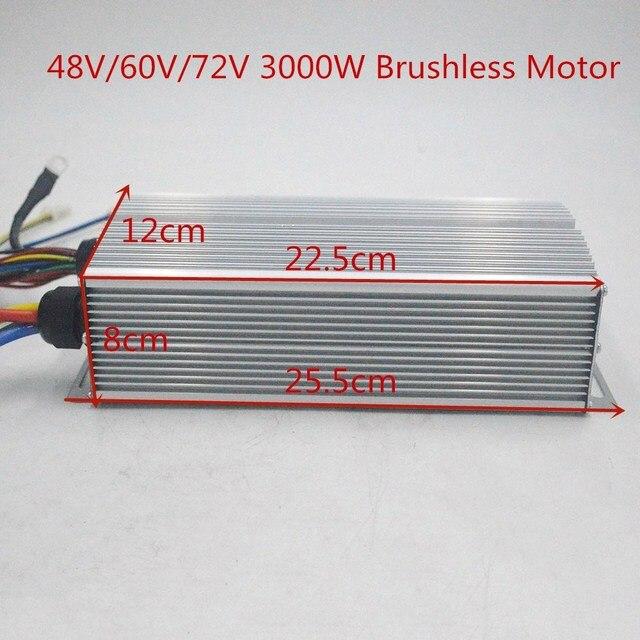 48 V 60 V 72 V 3000 ワットブラシレスコントローラ 60A 24 Mosfet ため BLDC モーター電動自転車/電動自転車 /三輪車/オートバイ