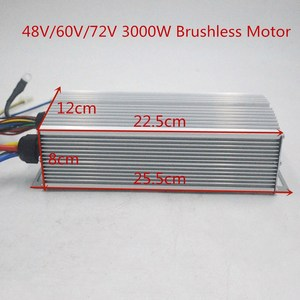 Image 1 - 48 V 60 V 72 V 3000 W Brushless Controller 60A 24 Mosfet voor BLDC motor elektrische fiets/ebike /driewieler/motorfiets