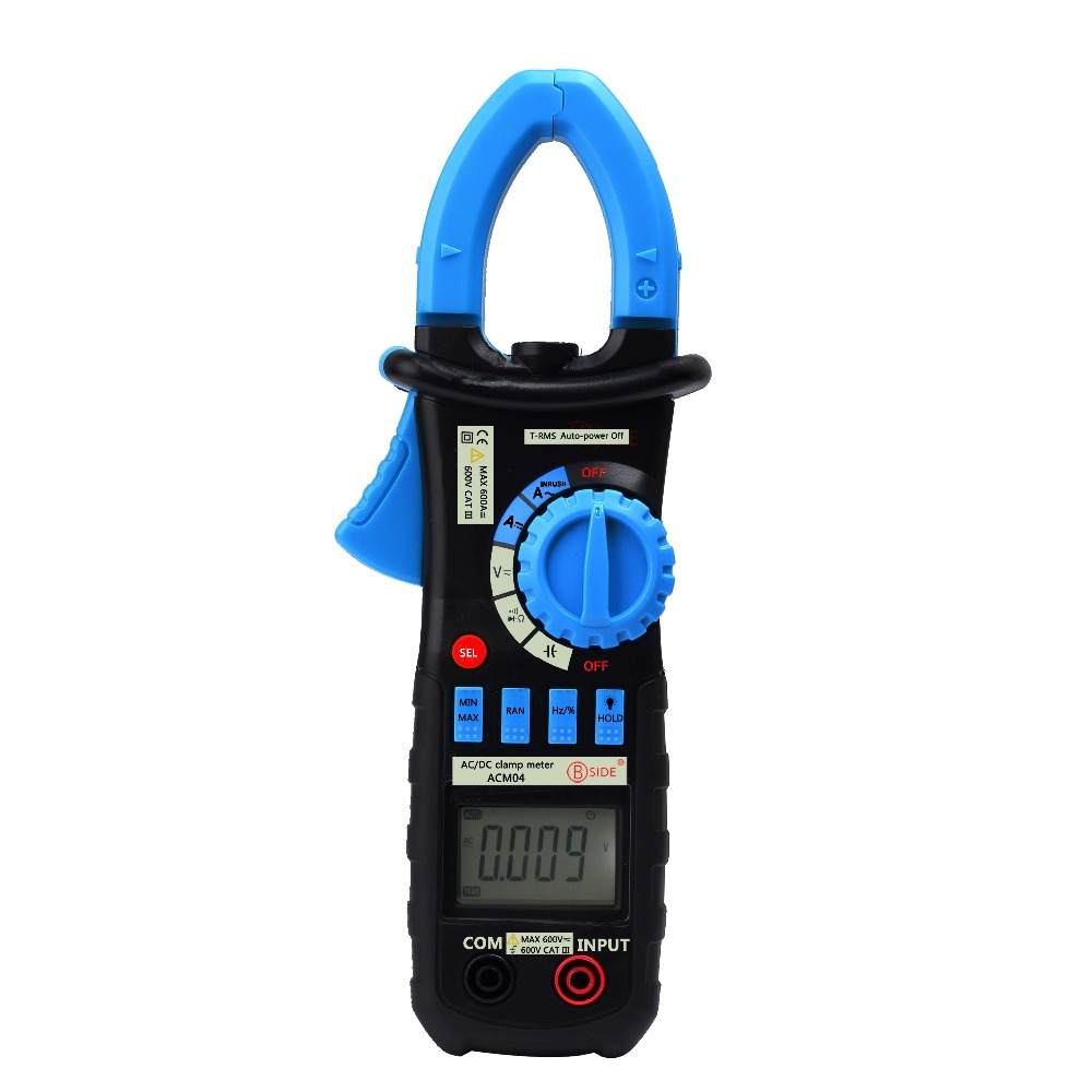 Free shipping ACM04 6600 words automatic range 600A true RMS ac/dc current digital clamp multimeter dc shoes кеды dc heathrow se 11