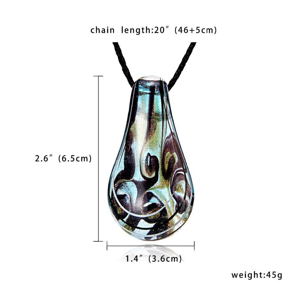 Collier en cristal goutte d'eau en verre coeur incrusté fleur motif en cuir chaîne pendentifs Maxi collier pour femme petite amie cadeau