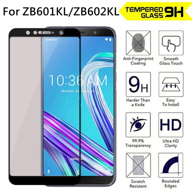 9H pełna ochrona szkło hartowane dla ASUS ZenFone Max Pro M1 ZB601KL ZB602KL ochraniacz ekranu telefon folia ochronna 2.5D