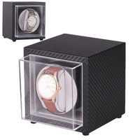 2019 New Super mini Portable Auto Silent Watch Winder Holder Display Automatic Mechanical Black Winding Jewelry Watch Box Case