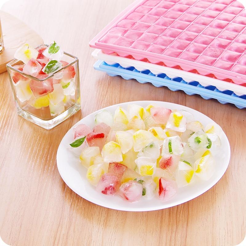 96 Grids Large Diamond Square Plastic Lattice Ice Box Frozen Ice Mold Box Ice Form Ice Cubes