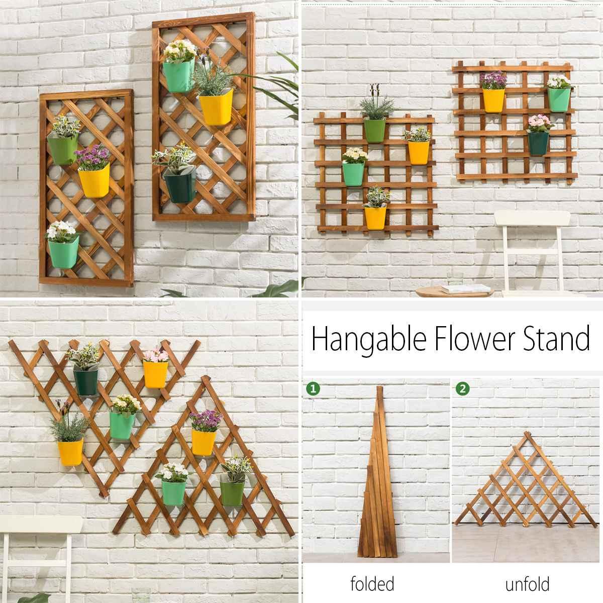 Modern Wood Wall Mounted Shelf Flower Pot Hanging Plants Storage Rack Hanger Home Living Room Decor Bar Restaurant Background