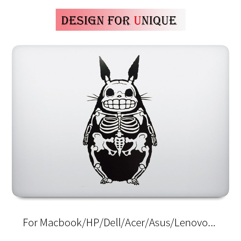 Totoro Skeleton Laptop Decal for font b Apple b font font b Macbook b font Decal