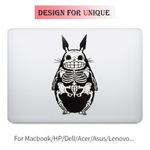 Totoro Skeleton Laptop Decal for Apple Macbook Decal Pro Air Retina Touch Bar 11 12 13 15 inch Vinyl Mac Mi Book Skin Sticker