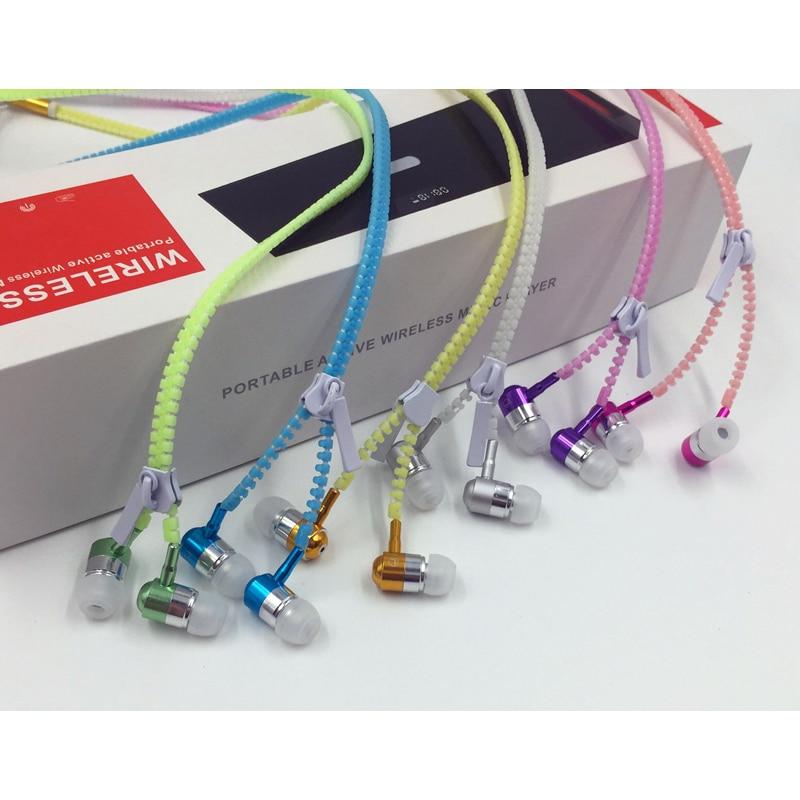 Hot försäljning! M & J Glödande hörlurar Ljus Light Metal Zipper - Bärbar ljud och video - Foto 3